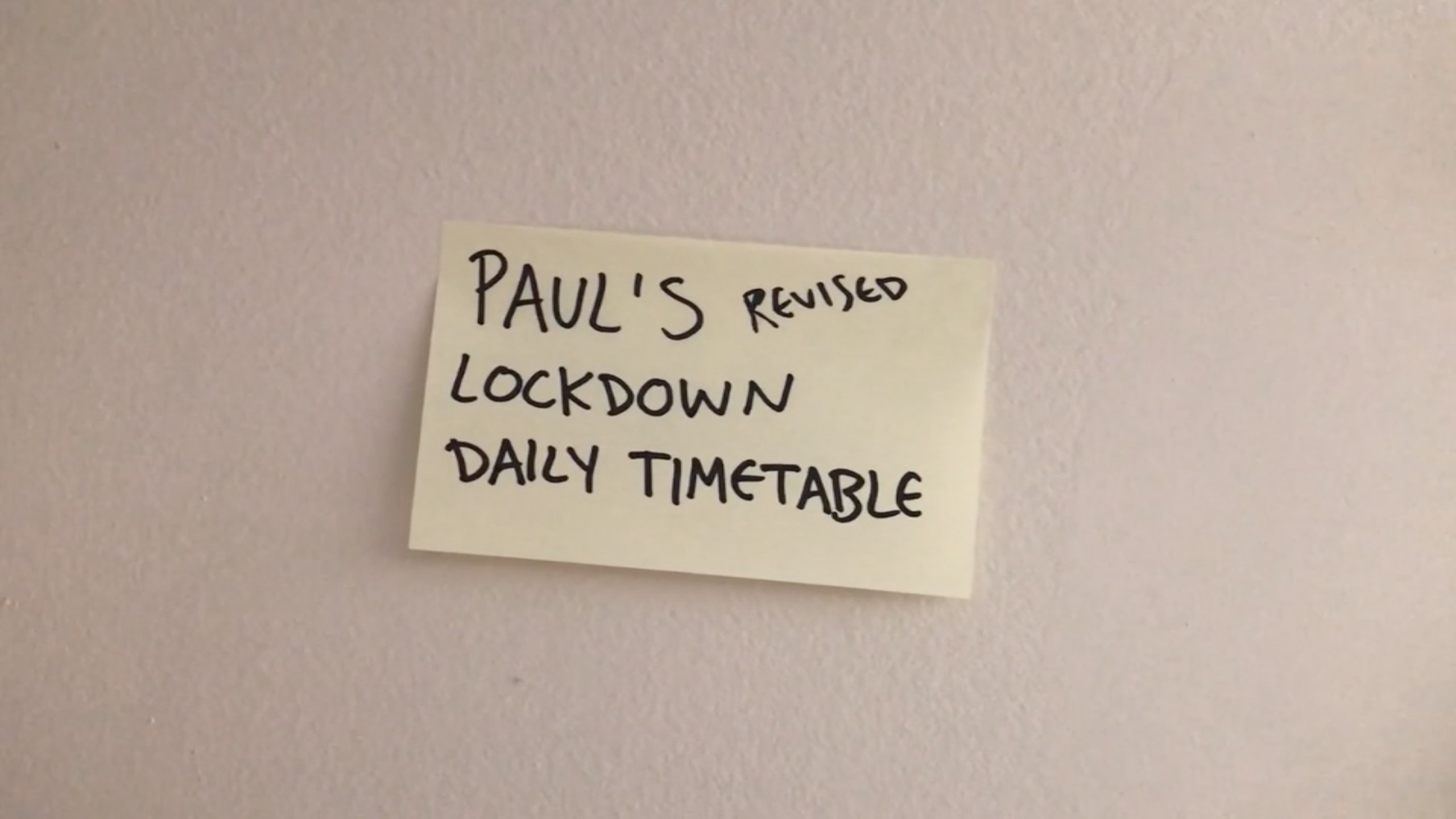 PaulLockdown Daily Timetable